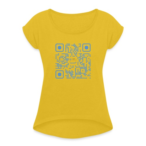 QR Maidsafe.net - Women's T-Shirt with rolled up sleeves