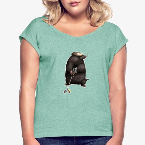 Mole Golfer for dark Ts - Women's T-Shirt with rolled up sleeves