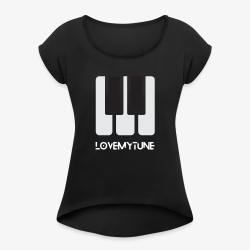 Love My Tune - Koszulka damska z lekko podwiniętymi rękawami