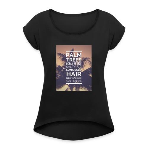 Palm shirts - Frauen T-Shirt mit gerollten Ärmeln