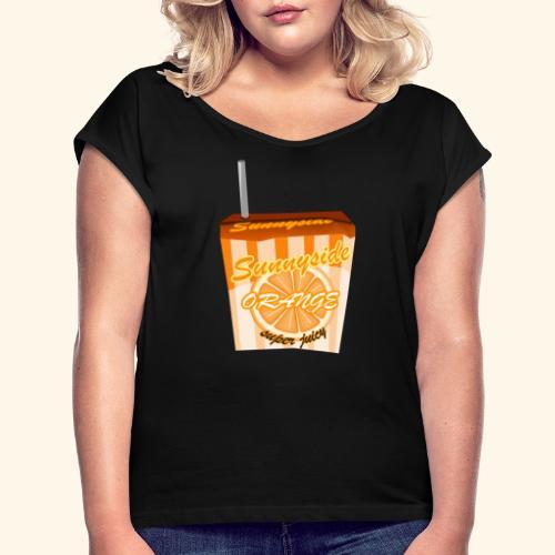 sunnyside - Frauen T-Shirt mit gerollten Ärmeln