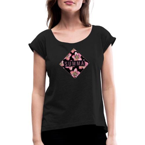 Summa - Frauen T-Shirt mit gerollten Ärmeln