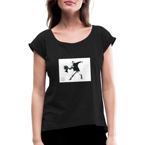 PicsArt 12 26 12 59 29 - Vrouwen T-shirt met opgerolde mouwen