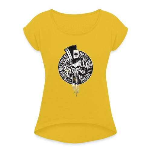 Kabes Heaven & Hell T-Shirt - Women's T-Shirt with rolled up sleeves