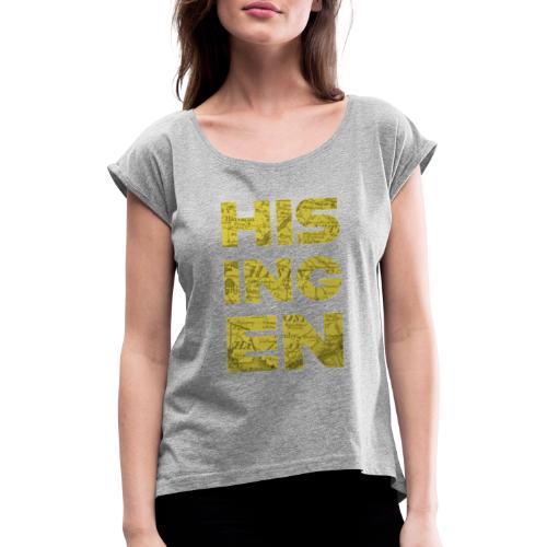 Hisingens Karta - T-shirt med upprullade ärmar dam