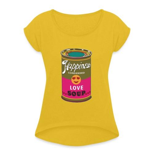 HAPPINESS SPREADSHIRT - T-shirt à manches retroussées Femme