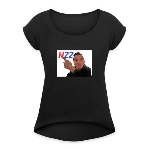 hetzeizo t-shirt vrouw - Vrouwen T-shirt met opgerolde mouwen