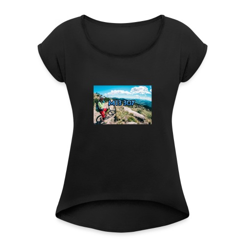 mtb hoddie - Women's T-Shirt with rolled up sleeves