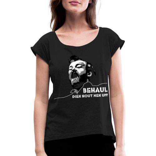 cocker02 - Frauen T-Shirt mit gerollten Ärmeln
