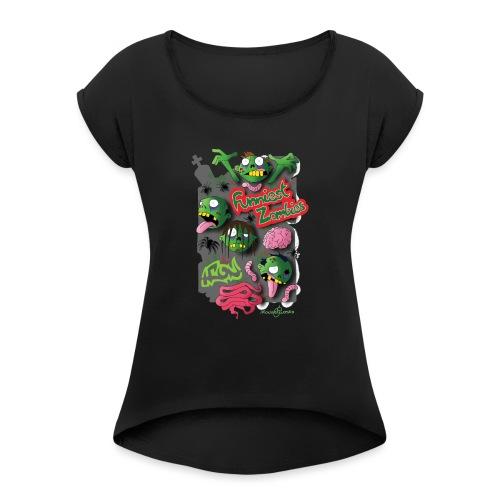 Zombie Graffiti - Maglietta da donna con risvolti