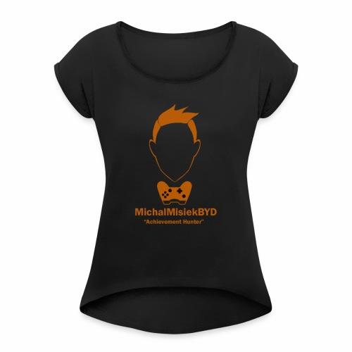 MichalMisiekBYD - Koszulka damska z lekko podwiniętymi rękawami
