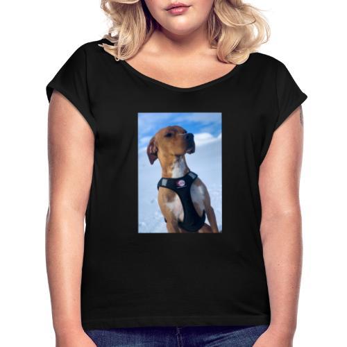 A0A51712 5467 4E0B 8284 84C807DEDD9E - T-skjorte med rulleermer for kvinner