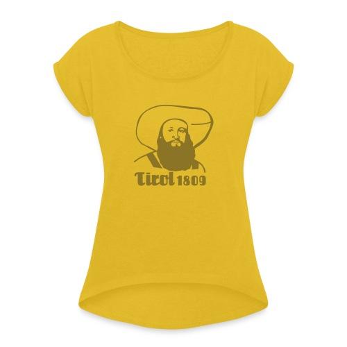Andreas Hofer Silber1 - Frauen T-Shirt mit gerollten Ärmeln