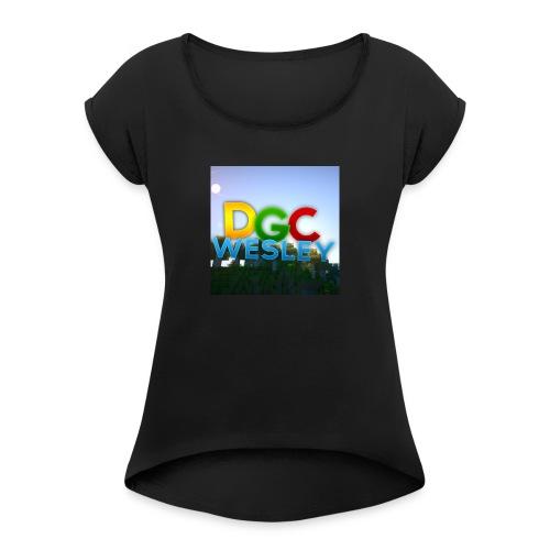 DGC - Vrouwen T-shirt met opgerolde mouwen