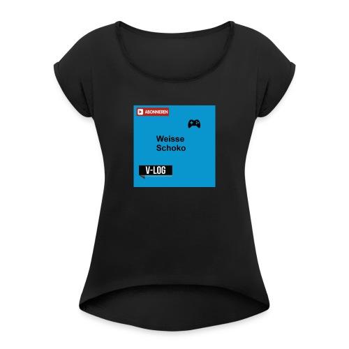 LOGO MERCH - Frauen T-Shirt mit gerollten Ärmeln