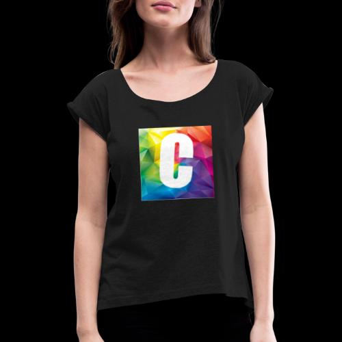 Carlo Hoddie - Women's T-Shirt with rolled up sleeves