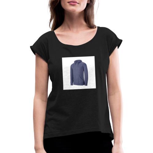 sweat shirt capuche homme melange 300 gm kariban - T-shirt à manches retroussées Femme