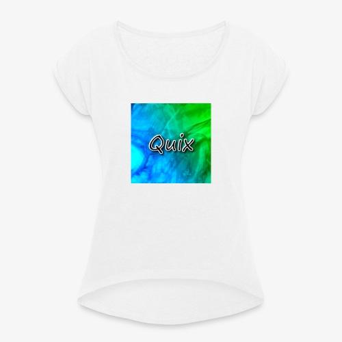 adsada - T-shirt med upprullade ärmar dam