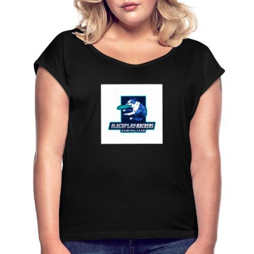 BPHACK - Frauen T-Shirt mit gerollten Ärmeln