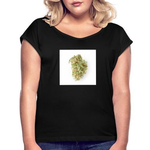 Cannanis BUD - Ganja - Weed - Frauen T-Shirt mit gerollten Ärmeln