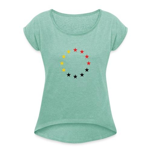 United Europe Tres - Frauen T-Shirt mit gerollten Ärmeln