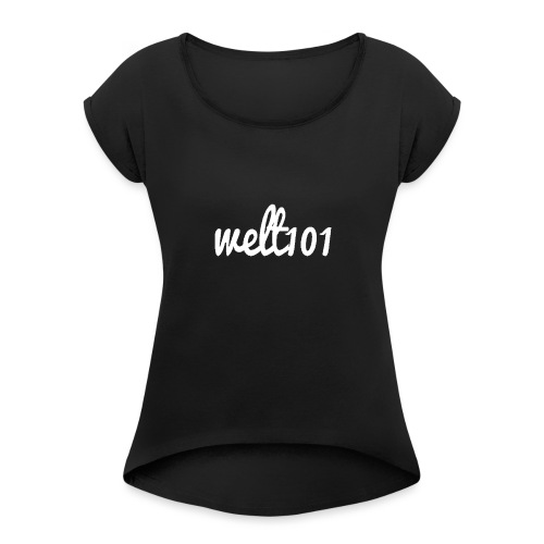 White Collection - Women's T-Shirt with rolled up sleeves