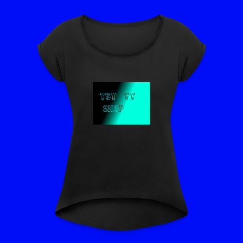 tbt shop - T-skjorte med rulleermer for kvinner