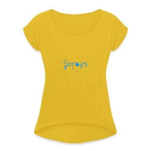 Sorous Montage - T-shirt med upprullade ärmar dam
