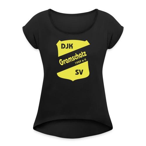 DJK Wappen - Frauen T-Shirt mit gerollten Ärmeln