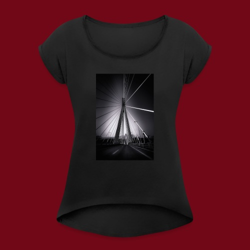 Rio-Andirrio-Brücke - Frauen T-Shirt mit gerollten Ärmeln