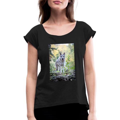 La Tanière des Chiens-Loups - T-shirt à manches retroussées Femme
