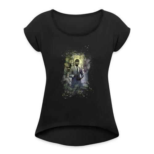 Monky - Frauen T-Shirt mit gerollten Ärmeln