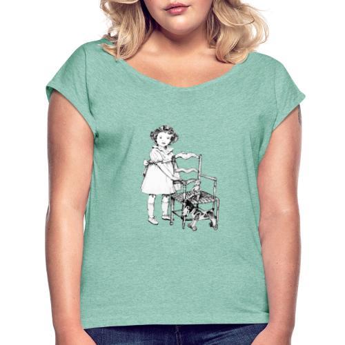 Nelly et sa chaise - T-shirt à manches retroussées Femme