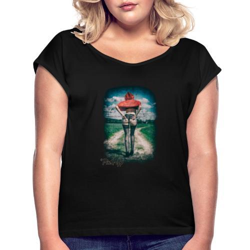 Red Riding Hood - Frauen T-Shirt mit gerollten Ärmeln