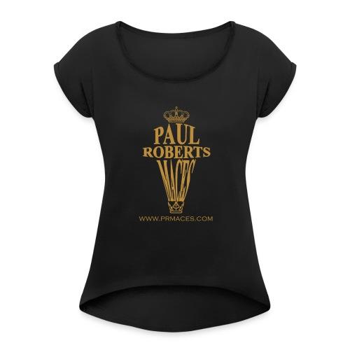 Paul Roberts Maces gold - Vrouwen T-shirt met opgerolde mouwen
