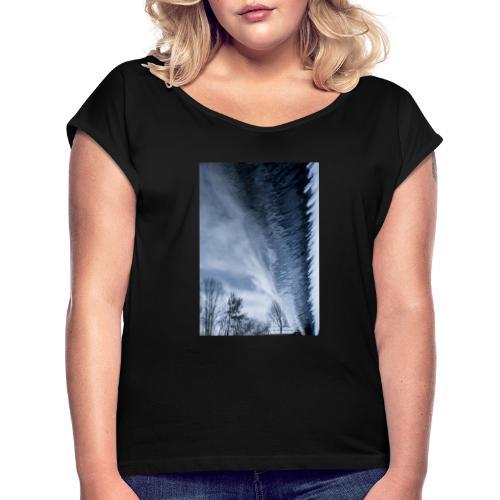 Stream - Frauen T-Shirt mit gerollten Ärmeln