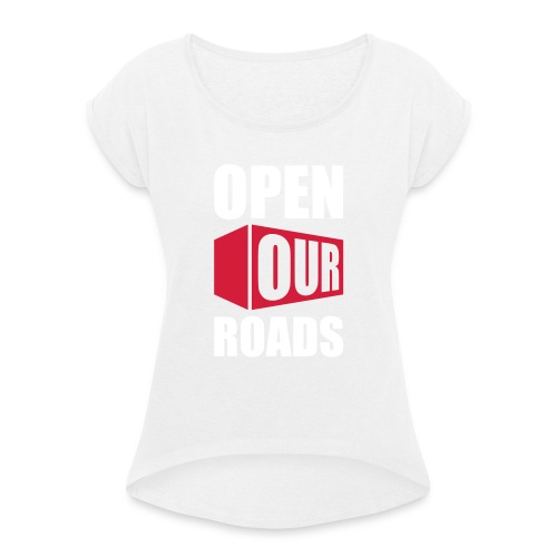OOR Logo stacked neg - Women's T-Shirt with rolled up sleeves