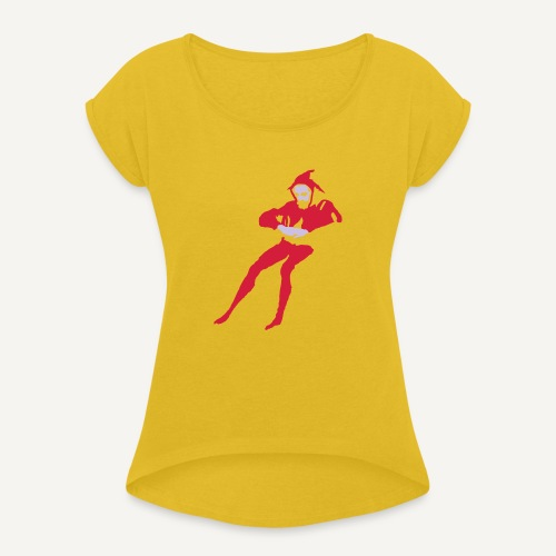Stańczyk - Koszulka damska z lekko podwiniętymi rękawami