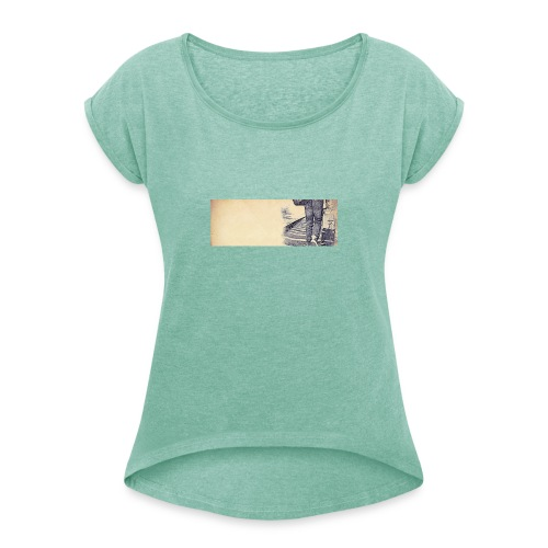 solo.pigion - T-shirt à manches retroussées Femme