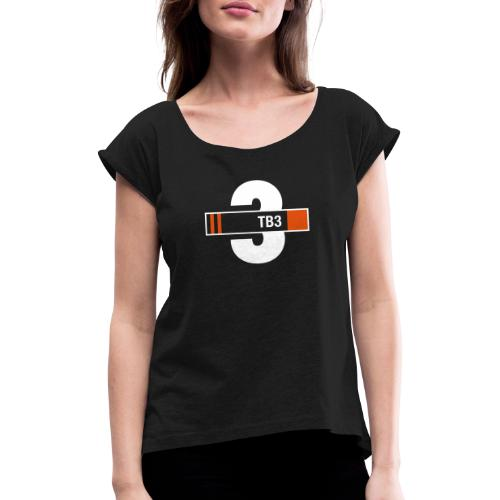 Thunderbird 3 design - Women's T-Shirt with rolled up sleeves