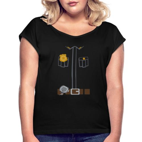 Police Costume Black - Women's T-Shirt with rolled up sleeves