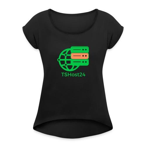 TSHost24 - Frauen T-Shirt mit gerollten Ärmeln