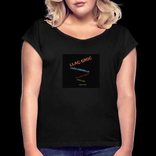 Llac Groc Suggestiu - Camiseta con manga enrollada mujer