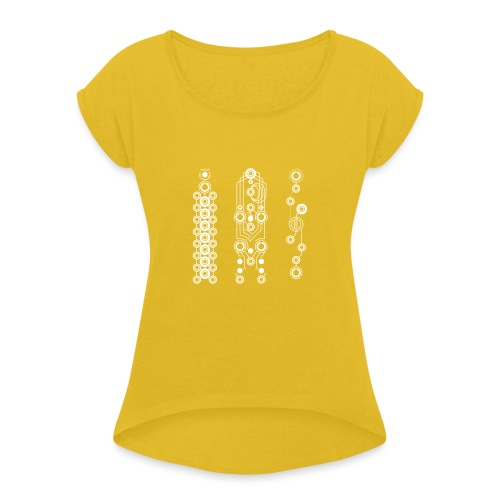 V1 design - Women's T-Shirt with rolled up sleeves