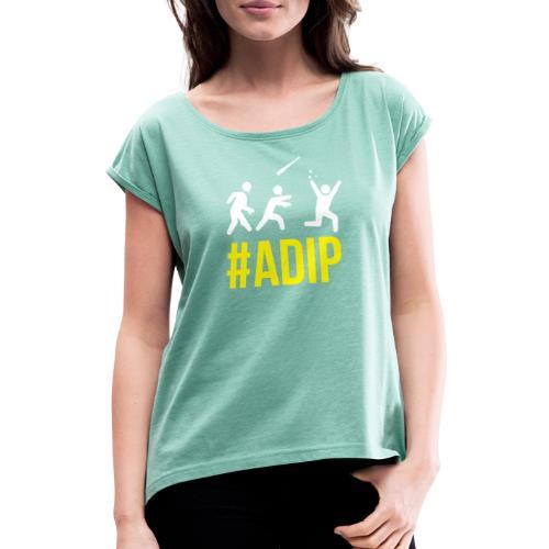 ADIP Picto 1 - Frauen T-Shirt mit gerollten Ärmeln