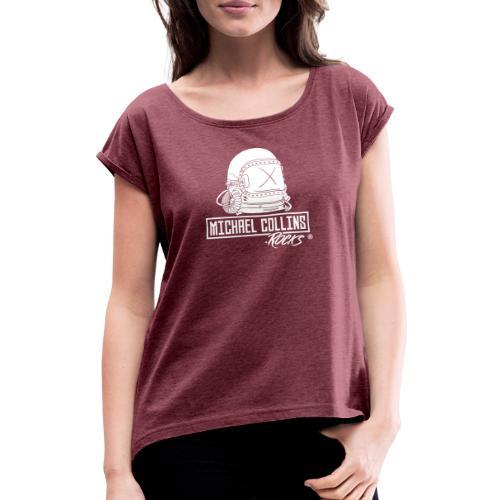 michaelcollins.rocks Logo Astronaut - Frauen T-Shirt mit gerollten Ärmeln