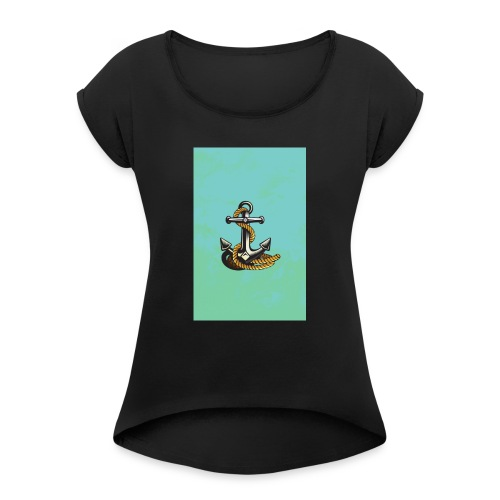 Ancla - Camiseta con manga enrollada mujer