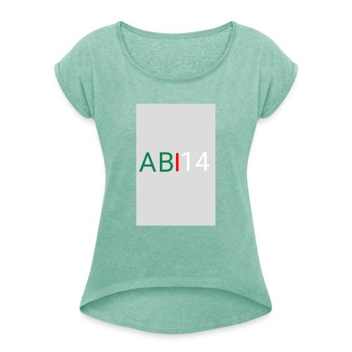 ABI14 - T-shirt à manches retroussées Femme