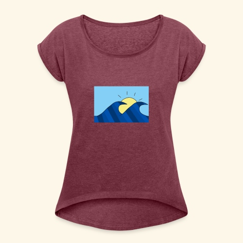 Espoir double wave - Women's T-Shirt with rolled up sleeves