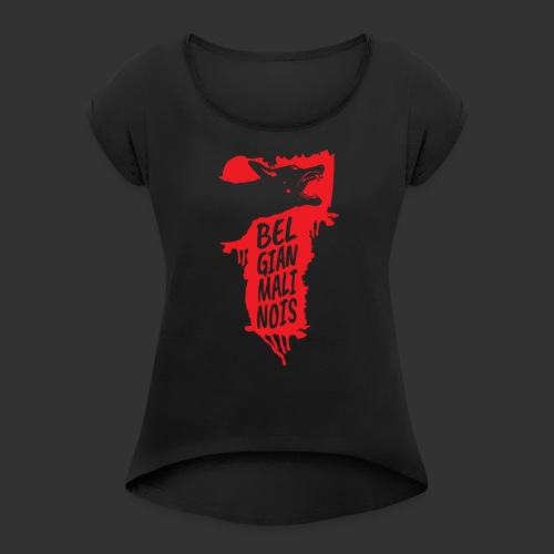 Belgian Malinois HEAD - Women's T-Shirt with rolled up sleeves